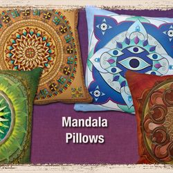 Mandala Pillows for Home Decoratino.