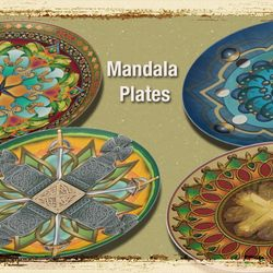 Mandala Decorative Plates.