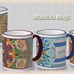 Mandala Porcelain Mugs.