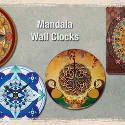 Mandala Wall Clocks.