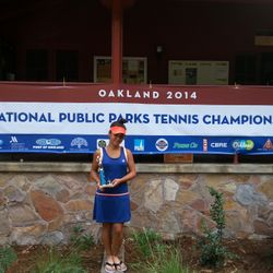 Tameka Samantha, August 16th-24th 2014, National Public Parks Championship Girls 14s Singles Champion.