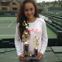 Tameka Samantha, May 25-27 2013, Seascape Memorial 3-Day Open Girls 12s Singles Champion / Doubles Finalist.