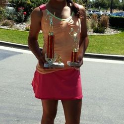 Tameka Samantha, May 11-19 2013, Sylvano Tennis Academy Mother's Day Junior Open Girls 12s Singles & Doubles Champion.