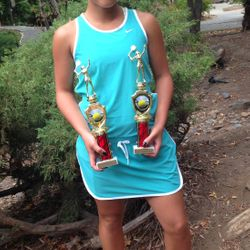 Tameka Samantha, July 26-29 2014, Diamond Hills 14s & 12s Age Up Championships Girls 14s Singles Finalist / Girls 14s Doubles Finalist.
