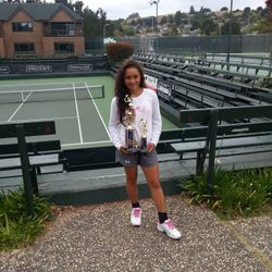 Tameka Samantha, May 25th - 27th 2013, Seascape Memorial 3-Day Open Girls 12s Singles & Doubles Champion.
