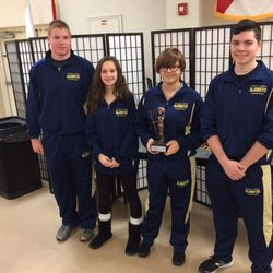 Cadets Jennings Curd, Alyssa Thomas, Allora Whitley, & Benjamin Davis receive 2nd place overall precision team Saturday, 10 December at the Jefferson County High School STS Rifle Match.