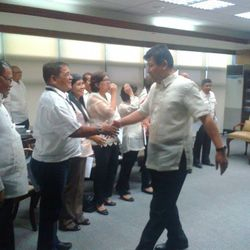 OATH TAKING OF PENRO MERCADO WITH THE SECRETARY