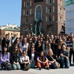Students on a trip through Europe!