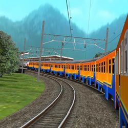 KRD Lokal di jalur Lintas Barat. Route and Train by SatayaCorp.