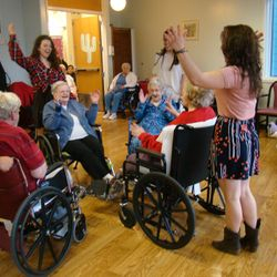 Square Dance at the Helen Porter Healthcare and Rehabilitation Center.