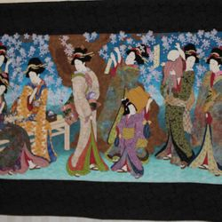Sakura II : Picnic at Naruko - Megan Farkas won 1st in Quilting Excellence Hand
