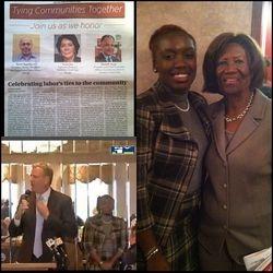 NAACP President Hazel Dukes, Amsterdam News Labor Breakfast w/ Bill De Blasio