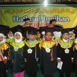 Bustanuddin students during their graduation ceremony. Alhamdulilah