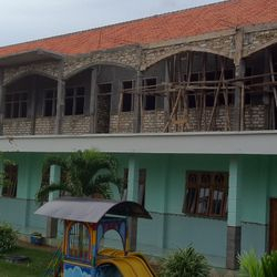 2nd school building of which 1st level completed, 2nd level in process insya'allah.