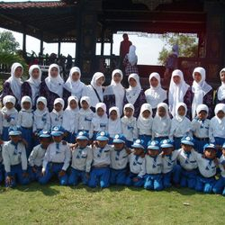 One of the group photo of Bustanuddin students during their graduation event.
