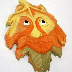 Face In Leaf by John Nieburg