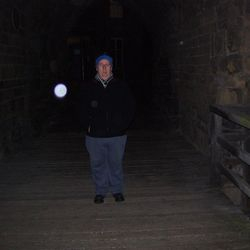 Rob a good customer and his ghostly orb at the Blackgate. Photo by Robs mate.