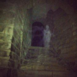 A ghost of what some think could be a women who haunts the castle. This photo was taken by 3 off duty police officors on a works ghost walking tour!