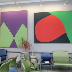 Later artist Geri Taper acryoic on canvas installation at the Ryan Chelsea Medical Center  former