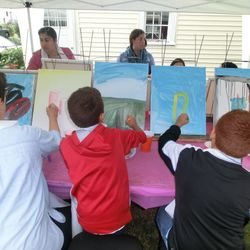 Keyla's adult and children painting workshop in NJ