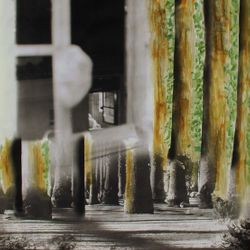 "Loren Ellis photographic painting 40 x 33"""