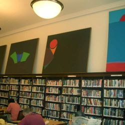 Geri Taper installation ( former) at the NY Public Library in Hell's Kitchen NYC