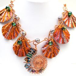 Copper Shells & Ammonite