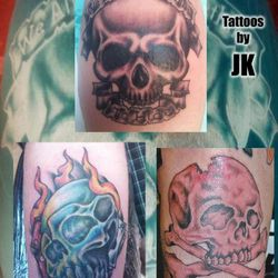 Skull tattoos by James King