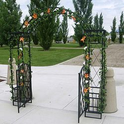 Wrought Iron Gated Arch