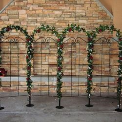 Wrought Iron Trellis Panels