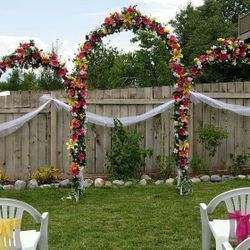 White Wedding Arches