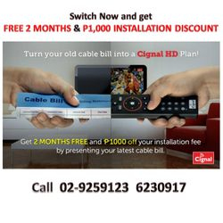 For exisiting subscribers to avail PPV call Cignal Care 02-244 6251