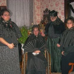 Victorian Wake: The Widow Sutton and sisters