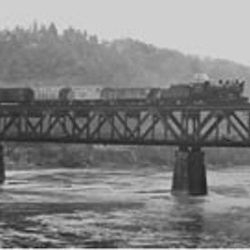 B & O #3116, west bound on the Foxburg Bridge. April, 1948