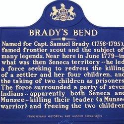 Brady's Bend Marker