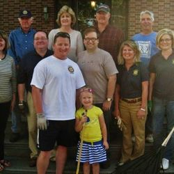 Clarion Rotarians at The Sutton-Ditz Museum: Casey O'Toole & daughter Anna, Mary Lea Lucas, Scott Burns, Dan Parker, Jamie Lefever, Theresa Edder, Truman Mills, Mary Louise Logue, Gary Frank, Rick Tote