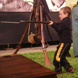"The ""Little Soldier""...a guest at the Civil War Road Show hosted by CCHS."