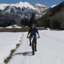 electric fat bike winter trail