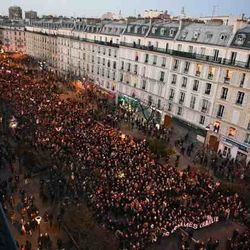 Huge march in Paris against the Fear and Terror