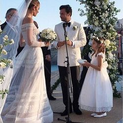 the Vowels moments of the wedding ceremony of Ana Beatriz Barros and Karim el Chiaty in Mykonos