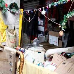 Homeless  Greek citizens , Christmas Days , austerity times