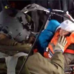 Italin Rescue crew saving mother and toddlers , December 29, 2015