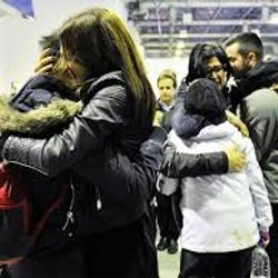 Passengers of the Norman Atlantic ferry , just rescued , arriving in Greece