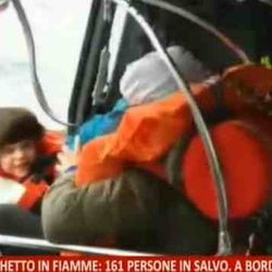 air rescue of toddlers from flaming Greek Ferry, December 28, 2014
