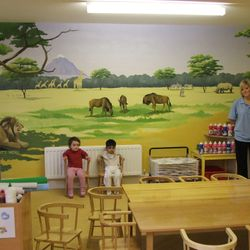 mural art painted safari Savannah