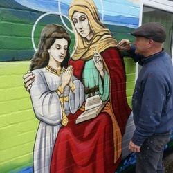 mural art saint anne exterior catholic school