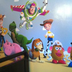 mural art painted toy story woody