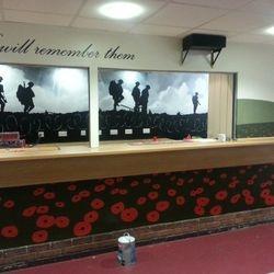 mural art remembrance poppy war soldiers bar