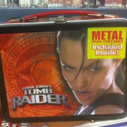 NECA Tomb Raider Movie Angelina Jolie Metal Lunch Box
