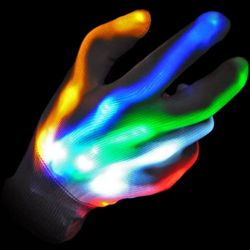 XO Gloves LED Rainbow rhythmic pattern